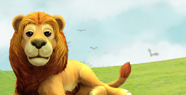 The lion in My Free Zoo