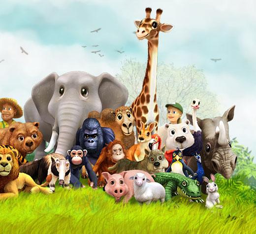 My Free Zoo >> Free online animal games